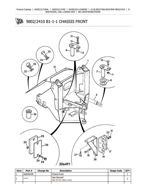 Jcb 411b Zx Wheel Loader Parts Catalog Manual 7