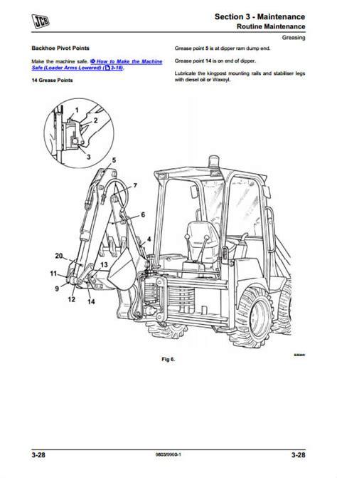 Jcb Backhoe User Manual