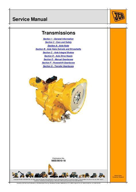 Jcb Transmission Repair Manual