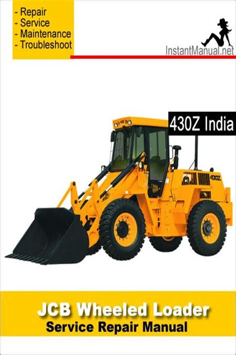 Jcb Wheeled Loader 430z Service And Repair Manual