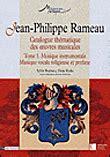 Jean Philippe Rameau Cat Thematique Des Oeuvres