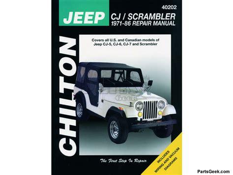 Jeep Cj7 Sport 1979 Service Repair Manual