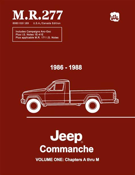Jeep Comanche Service Manual