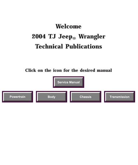 Jeep Tj 2004 Service Repair Manual