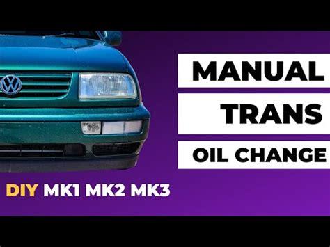 Jetta Manual Transmission Oil Change