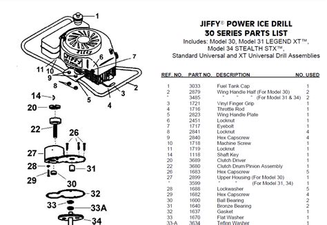 Jiffy Ice Auger Parts Manual