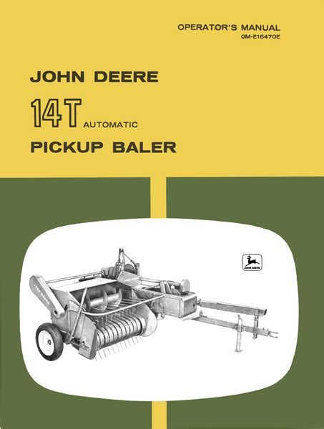 John Deere 14t Baler Manual