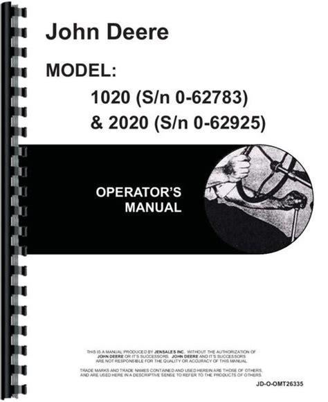 John Deere 2020 Owners Manual