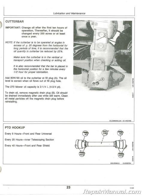 John Deere 270 Disc Mower Shop Manual