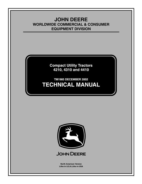 John Deere 4310 Repair Manual