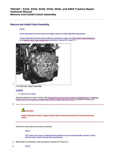 John Deere 5525 Repair Manual