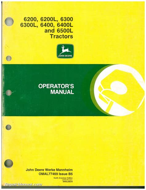 John Deere 6200 Owners Manual