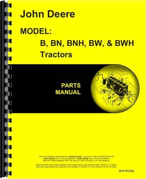 John Deere Bw Tractor Manual