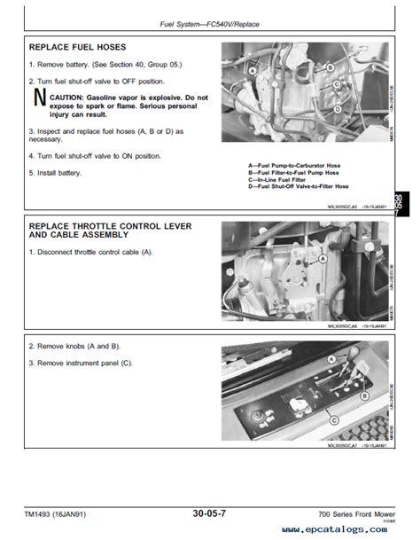 John Deere F725 Service Manual