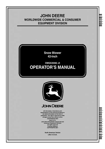 John Deere L107 Service Manual