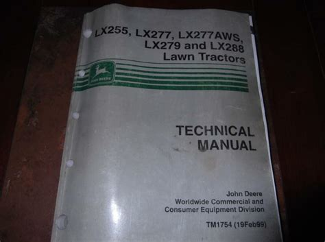 John Deere Lx279 Technical Manual