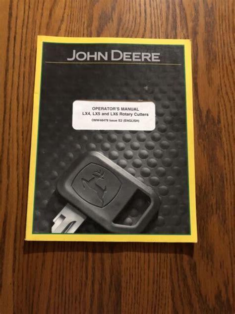 John Deere Lx4 Manual