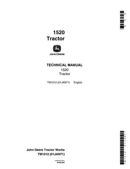 John Deere Manual Tm 1520