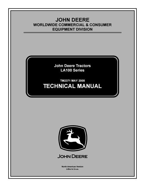 John Deere Owners Manual For La130