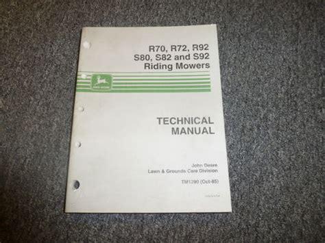 John Deere Technical Manual Tm1290