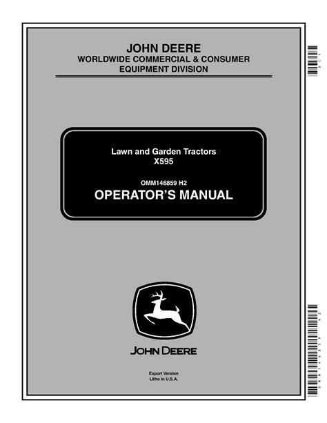 John Deere X595 Owner Manual