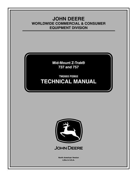 John Deere Z 757 Service Manual