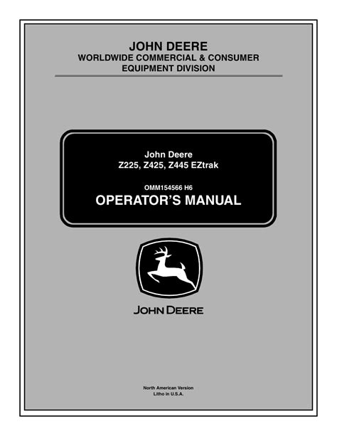 John Deere Z225 Repair Manuals