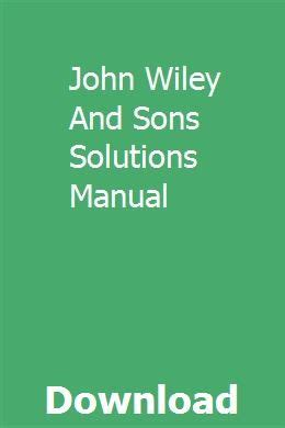 John Wiley Sons Financial Accounting Solution Manual