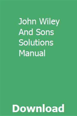 John Wiley Sons Financial Accounting Solutions Manual