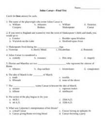 Julius Caesar Guide Answers