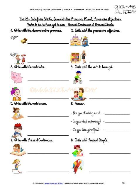 Junior Vocabulary Exercises