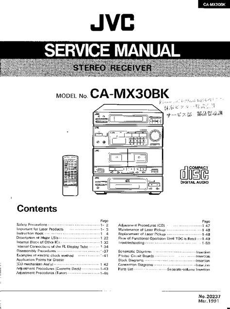 Jvc Ca Mx30bk Service Manual