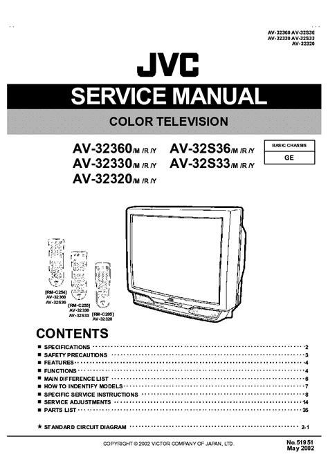 Jvc Ch X250rf Service Manual