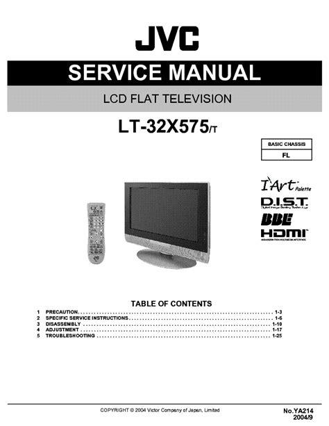 Jvc Flat Tv Lt 32x575 Service Manual