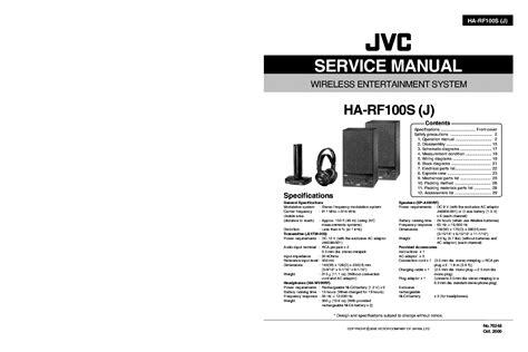 Jvc Ha W100rf Manual