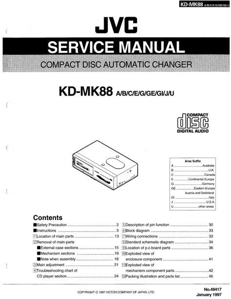 Jvc Kd Mk88 Car Stereo Player Repair Manual