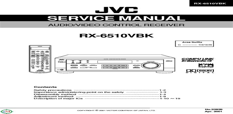 Jvc Rx 8022rsl Av Control Receiver Service Manual