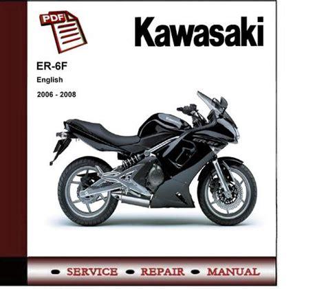 Kawasaki Er 6f Er6f Ninja 2006 2008 Service Repair Manual