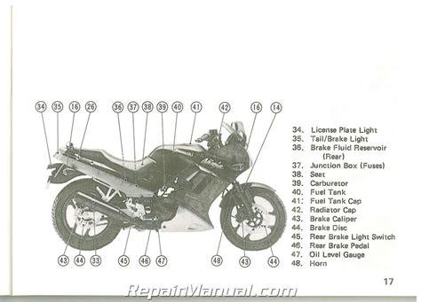 Kawasaki Ex250 H5 1994 Factory Service Repair Manual