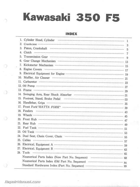 Kawasaki F5 Service Manual