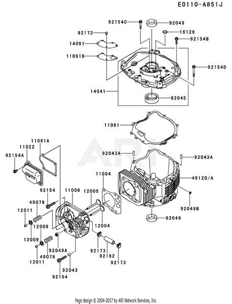 Kawasaki Fj180v Engine Diagram