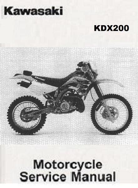 Kawasaki Kdx 200 1989 1994 Repair Service Manual