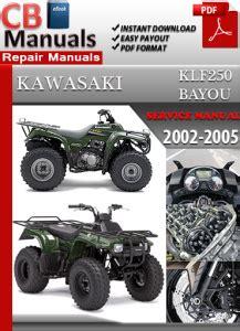 Kawasaki Klf250 Bayou 2002 2005 Service Repair Manual