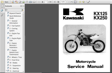 Kawasaki Kx 125 2016 Repair Manual