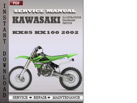 Kawasaki Kx100 2002 Factory Service Repair Manual