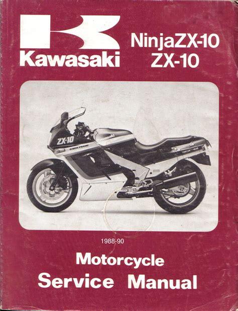 Kawasaki Ninja Zx 10 1988 1990 Repair Service Manual