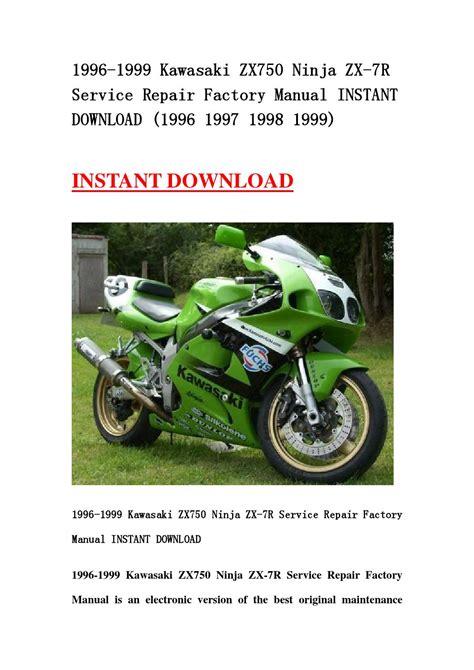Kawasaki Ninja Zx 7r 1996 2003 Service Repair Factory Manual