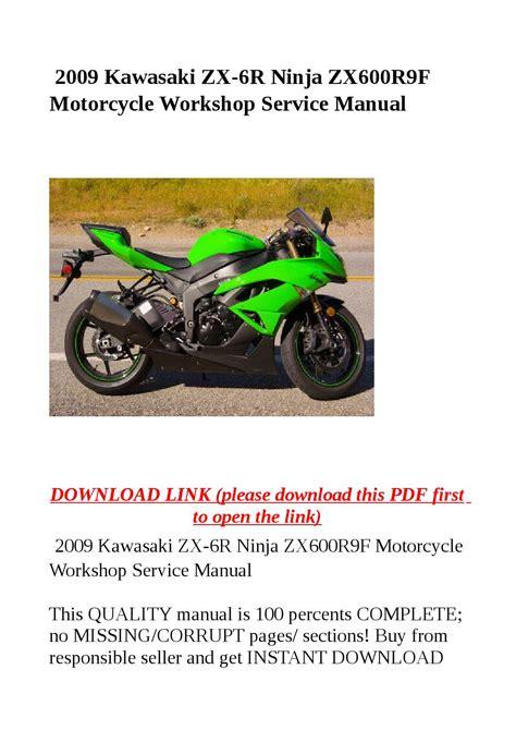Kawasaki Ninja Zx6r Manual