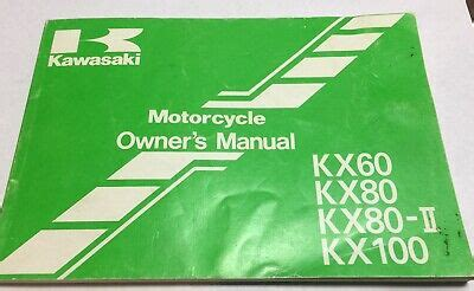 Kawasaki Owners Manual 99920 1618 01