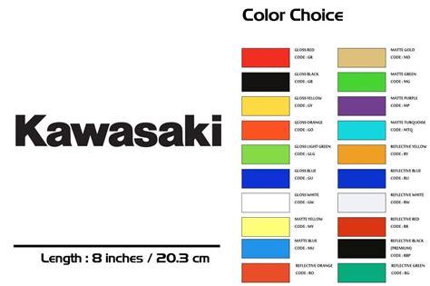 Kawasaki Wiring Color Codes